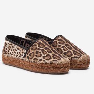 Dolce and Gabbana Leopard Print Espadrilles
